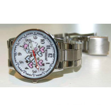 High Quality Fashionable Silicone Material Water Proof Metal Watch