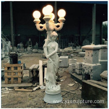 Large Size Marble lady Lamp sculpture