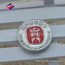Kundenspezifische Organisation Runde Silber Beschichtung Magnet Pins