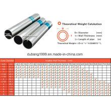 A tubulação de aço galvanizada / tubo de aço galvanizado / galvanizou a canalização / Zn revestido-85