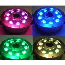 2014 luces llevadas subacuáticas subacuáticas de la encuesta de la natación de la venta 9w 12w ip68 RGB