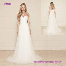 A-Line Strapless Floor Length Wedding Dress