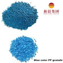 Синий цвет восстановленный ПП гранула