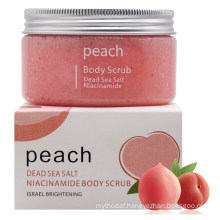 OEM Natural Peach Body Scrub Skin Brightening Body Exfoliating Scrub