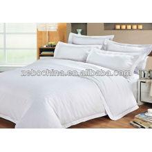Nova chegada cor branca 4pcs pur algodão hotel atacado comforter conjuntos de cama