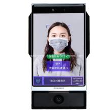 Sistema de reconhecimento facial de acesso à porta com temperatura de pulso