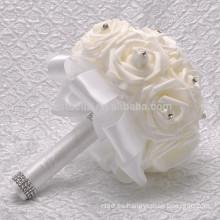 Hot vendiendo al por mayor el ramo hermoso coloreado artificial de la boda de la flor