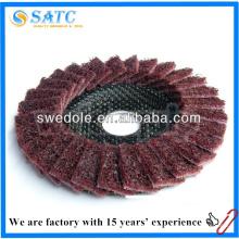 Mejor precio venta caliente limpieza y pulido disco flap no tejido de shanghai