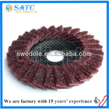 Best price hot sale cleaning and polishing non-woven flap disc from shanghai
