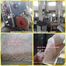 Débroussailleuse en plastique de meulage machine / broyeur en plastique