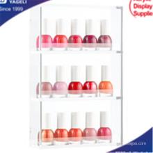 Heißer Verkauf Acrylic Clear 3 Layer Nail Organizer, Kosmetik Organizer