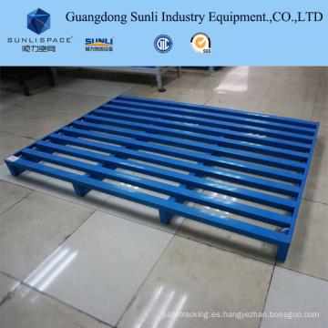 Paleta de caja de acero inoxidable para estantería CE 1t