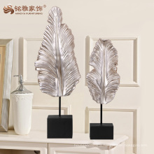 Creative crafts polyresin leaf sculpture for designer studio decoration