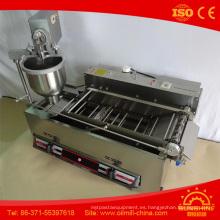 T101A eléctrica con gas Mini máquina de donuts de acero inoxidable