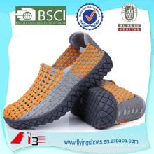 China fábrica handmade elástico tecido sapatos