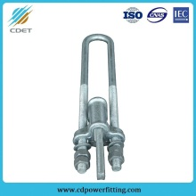 Good Quality for Protective Fitting For Substation Adjustable Wedge Clamp with U-Bolt supply to Denmark Wholesale