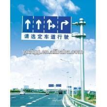 Poste de señalización de tráfico solar, poste de acero galvanizado