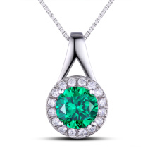 Fashion Jewelry Findings Gemstone Green Color Pendentif en argent