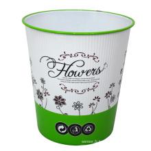 Fleur en plastique Imprimé Ouvrir le bac à ordures pour la maison (B06-931H)