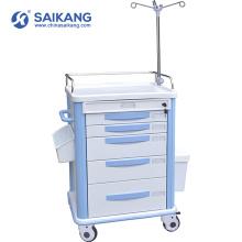 SKR038-ET Chariot simple adapté aux besoins du client de médecine d'urgence d'hôpital
