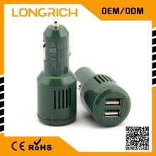 Портативный двойной USB автомобильное зарядное устройство, зарядное устройство для мобильного телефона, зарядное устройство для мобильных устройств