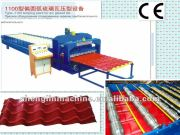 Russia widely used 1100mm arc bias glazed tile roll forming machine