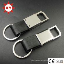 Fabrik-Versorgungsmaterial-Schwarz-kundenspezifisches ledernes Keychain für Auto