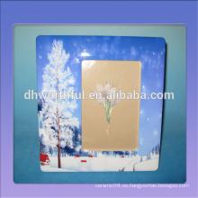 Marcos de cerámica vendedores calientes con la pintura del paisaje de la nieve