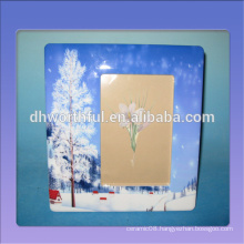 Hot selling ceramic picture frames with snow scenery painting