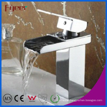 Fyeer Channel Spout Brass Waterfall Basin Faucet (Q3004)