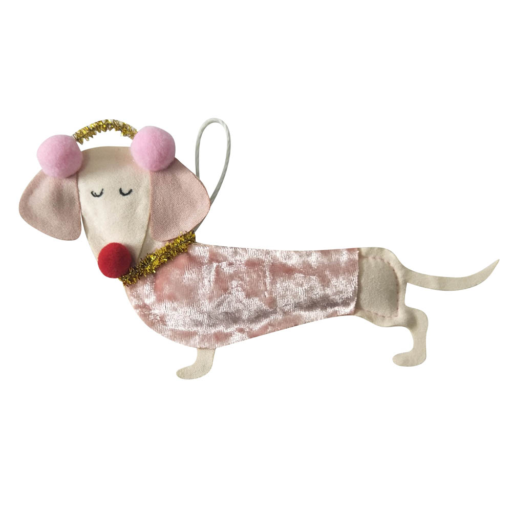 Dog Shaped Christmas Ornament