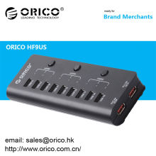 ORICO HF9US 9 puertos USB2.0 HUB con 2 puertos de carga