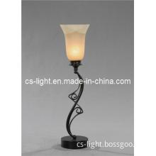 Glass Lamp Shade Metal Lamp Body Uplight Table Lamp (CTD581)