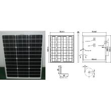 18V 45W 50W Monocrystalline Solar Panel PV Module with Ce Approved
