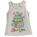 Moda menina colete em crianças menina t-shirt com bolo de impressão (sv-020)