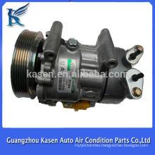 12v r134a sanden sd6v12 compressor for PEUGEOT 206/307 OE#SD1439 SD1438 SD1430 6453FR 6453LF 9646273880