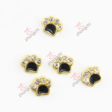 Gold Paw Diamond Floating Charms (FC)