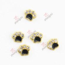 Gold Paw diamante encantos flutuantes (FC)