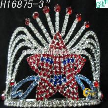 Coroa linda da moda coroa da festa da beleza congelada