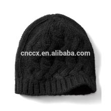 PK17ST042 Cachemire Blend Cable Stitch Chapeau d'hiver