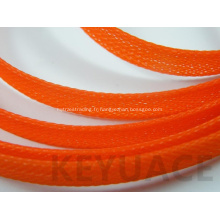 Gaines tressées extensibles en PET ignifuge en polyester