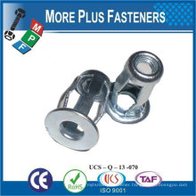 "Made in Taiwan Screw Stainless Steel 1/4""-20 Zinc with Sealer Mirror Mounting Blind Jack Nut"
