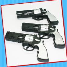 Juguete de pistola de pistola de chispas de fricción de plástico con caramelo