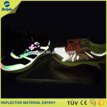 Cuero reflectante de la PU de 0.8mm para los zapatos / PU reflexiva de plata oscura