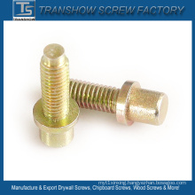 M8*25mm Yellow Zinc Plated Round Head Screw