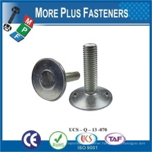 Made In Taiwan Flat Countersunk Head Elevator Bolt Metric Coarse Square Neck Tee Slot Bolt Coarse Round Neck Tee Slot Bolt