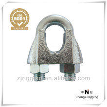 Malleable clip for steel wire rope