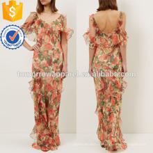 Цветочные печатных шифона платье Производство Оптовая продажа женской одежды (TA4047D)