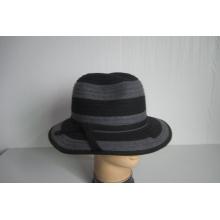 Sombreros trenzados de tela de lana para mujer - YJ72