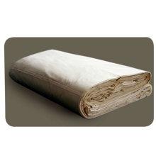 tela de algodón gris